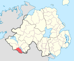 Location of Knockninny, County Fermanagh, Northern Ireland.