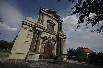Church of the Sacred Heart of Jesus, Grabowo Królewskie - Image: Kościół Najświętszego Serca Pana Jezusa w Grabowie Królewskim