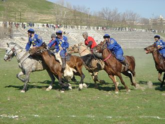 Buzkashi - A game of kokpar, Kazakhstan