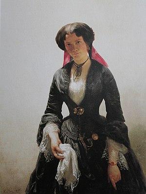 Rudolf Koller - Koller's painting of Bertha Schlatter, 1855