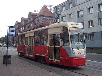Silesian Interurbans - Konstal 105N-2K tram rebuilt in MPK Łódź