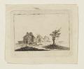 Kopparstick, landskap med hus, troligen 1600-tal - Skoklosters slott - 98095.tif