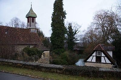 Kreßbach. Kapelle und ehemaliges Waschhaus (Dez. 2011).jpg
