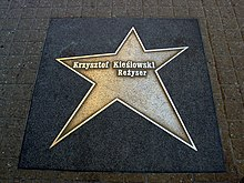 Kieślowski's star on the Walk of Fame in Łódź
