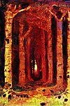 Kuindzhi Sunset in a forest study 1878.jpg