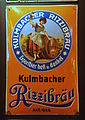 Kulmbacher Rizzibräu enamel advertising sign.JPG