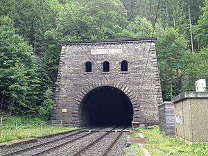 Lötschberg Tunnel - North portal south of Kandersteg (1200 m a.s.l.)