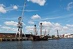 Lübeck, Segelschiff -Lisa von Lübeck- und Kräne -- 2017 -- 0521.jpg