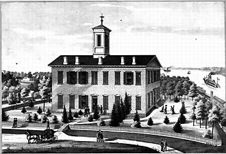 Hannibal–LaGrange University - A Mid-1870s sketch of La Grange College.