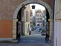 View through the gate of the city fortifications
