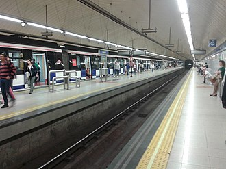 Laguna (Madrid Metro) - Image: Laguna Metro Madrid