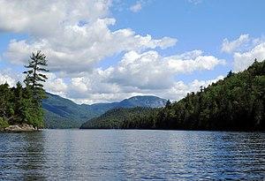 Henderson Lake (New York) - Lake Henderson looking north northwest towards Wallface Mountain