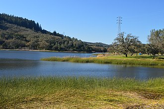 Lake Hennessey - Image: Lake Hennessey December