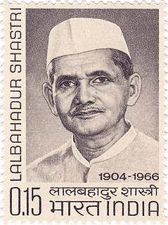 Lal Bahadur Shastri The second Prime Minister of the Republic of India and a leader of the Indian National Congress party