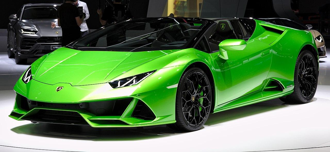 Fichier:Lamborghini Huracan Evo Spyder Genf 2019 1Y7A5556.jpg