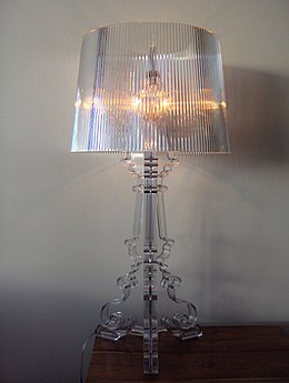 Lamp on a bedside table.JPG