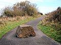 Large 'pebble' on Granite Way cycle path. - panoramio.jpg