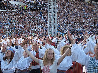 Estonians Finnic people inhabiting primarily the country of Estonia