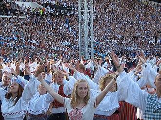 Estonians - Image: Laulupidu 2011 Põhjamaa