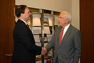 Frank Lautenberg - Lautenberg meets with Associate Justice nominee Samuel Alito prior to his confirmation hearings. Lautenberg eventually voted against the nominee.