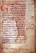 The Textus Roffensis, containing the Law of Wihtred