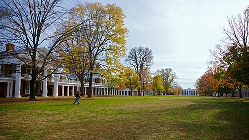 The University of Virginia Lawn UVa looking south fall 2010 (cropped).jpg