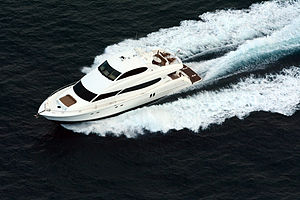 Motorboat - Lazzara 80 Sky Lounge enclosed bridge