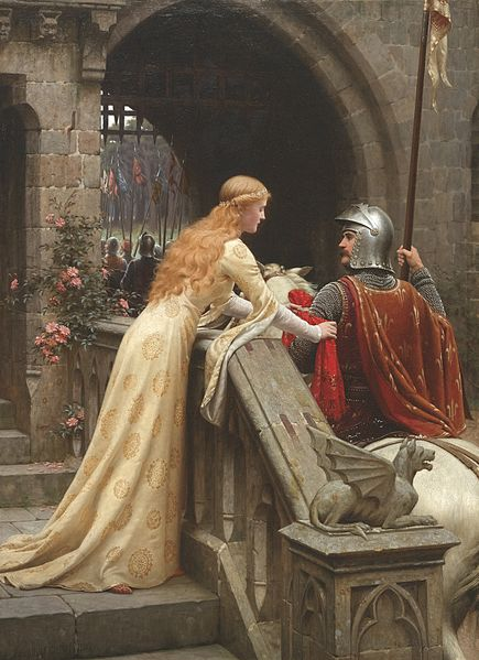 Edmund Leighton  435px-Leighton-God_Speed%21