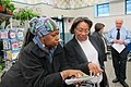 Lena Boswell and Marcia Fudge at a grocery store in Cleveland - 2011.jpg