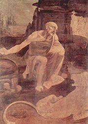 Unfinished painting of St. Jerome in the Wilderness, (c. 1480), Vatican