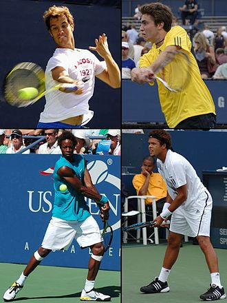 The Four Musketeers (tennis) - The New Musketeers (from top to bottom and left to right : Gasquet, Simon, Monfils and Tsonga) during the period 2008-2009.