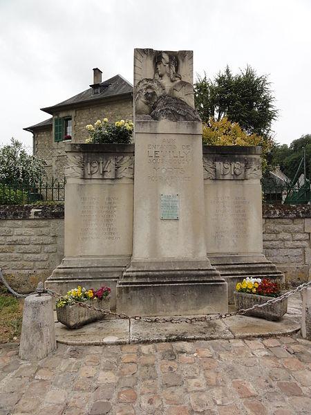 Leuilly-sous-Coucy (Aisne) monument aux morts