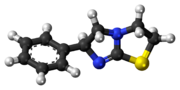 Ball-and-stick model of the levamisole molecule