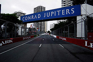 Surfers Paradise Street Circuit - The track during construction for the 2006 Lexmark Indy 300