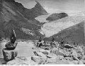 Lhasa - Facing P276 - The Glacier lake at the Karo la.jpg