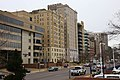 Lindell Blvd apartments, east of Bank of America Building.jpg