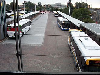 Liverpool railway station - Bus Interchange as seen from the concourse