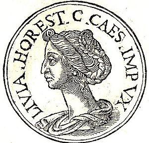 """Livia Orestilla - Livia Orestilla from """"Promptuarii Iconum Insigniorum """""""