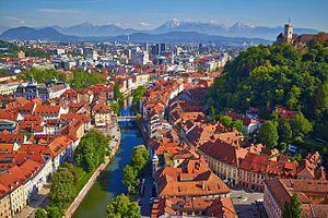 Economy of Slovenia - Image: Ljubljana made by Janez Kotar