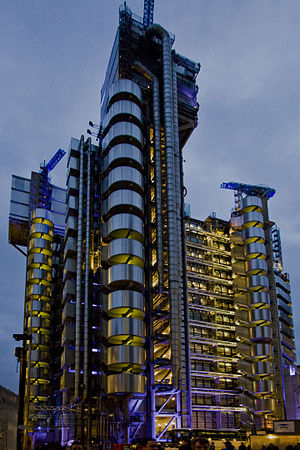 Lloyd's of London - The 1986 Lloyd's building in Lime Street is the current headquarters of Lloyd's