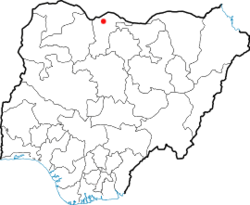 Location of Katsina in Nigeria