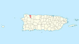 Location of Quebradillas in Puerto Rico