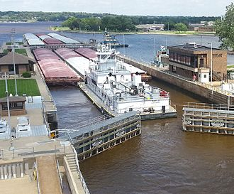 Upper Mississippi River - Lock and dam Upper Mississippi