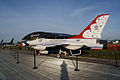 Lockheed-Martin F-16C Fighting Falcon Thunderbirds Mockup LSideRear Dawn SNF 04April2014 (14606454803).jpg