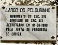 Loriga - Largo do Pelourinho - Placa toponímica.JPG