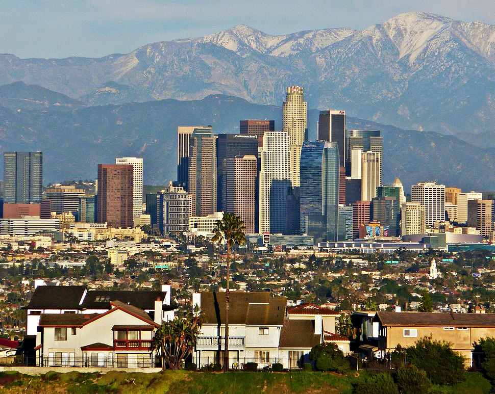 Los Angeles Skyline telephoto (2)