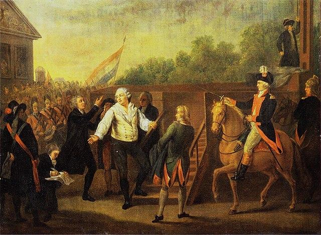 Charles Benazech - Louis XVI et l'abbé Edgeworth de Firmont au pied de l'échafaud 1793