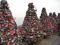 Love padlock trees N Seoul Tower.JPG