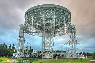 Lovell Telescope radio telescope at Jodrell Bank Observatory, Cheshire in the north-west of England