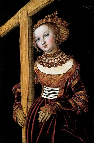 Helena (empress) - Saint Helena with the Cross, Lucas Cranach the Elder